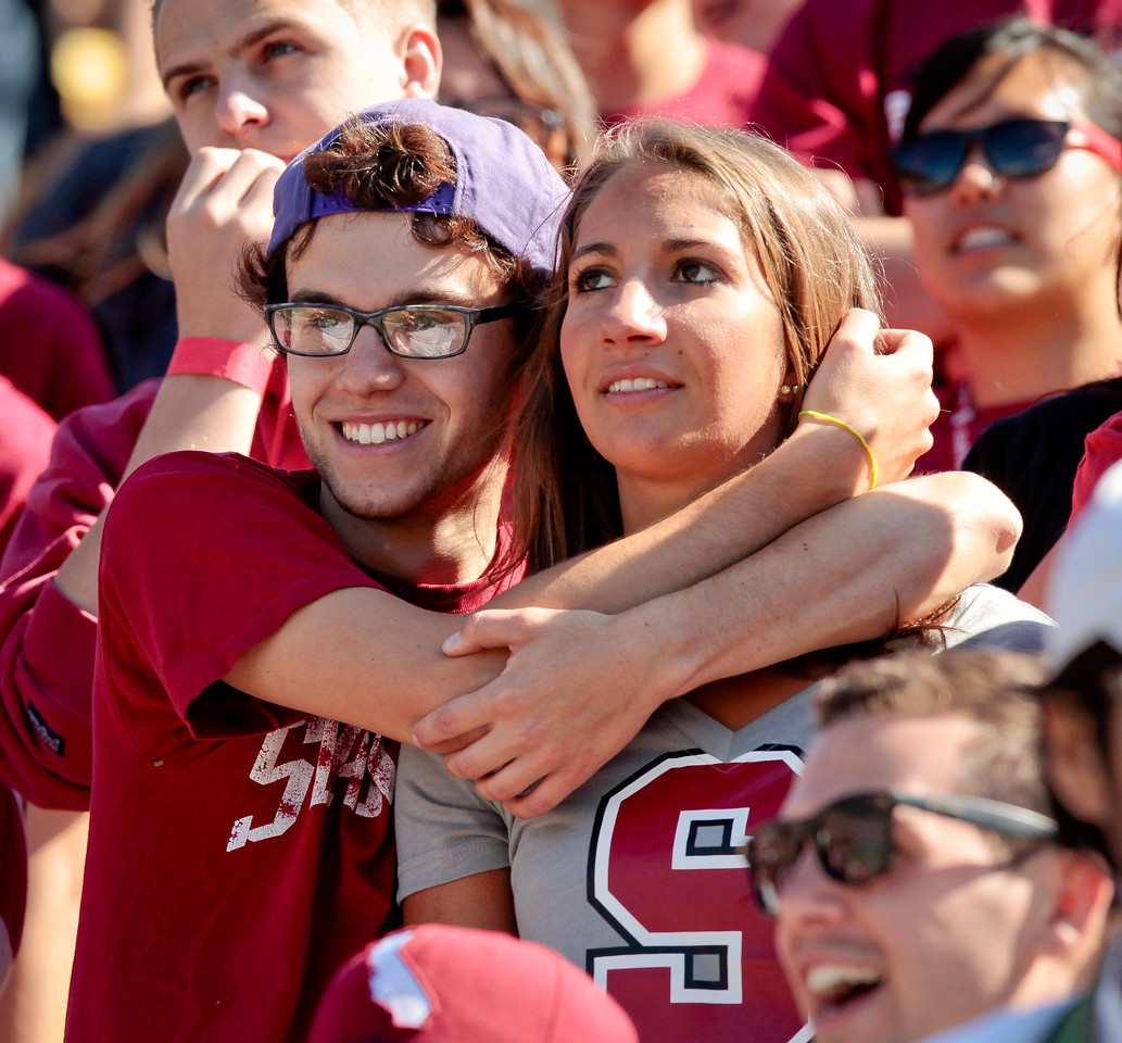 Stanford students during the Stanford vs. Cal football game at Memorial Stadium in Berkeley, Calif.,  on Saturday, Oct.20th, 2012