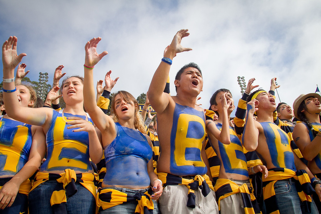 Cal students before the Stanford vs. Cal game at Memorial Stadium in Berkeley, Calif.,  on Saturday, Oct.20th, 2012