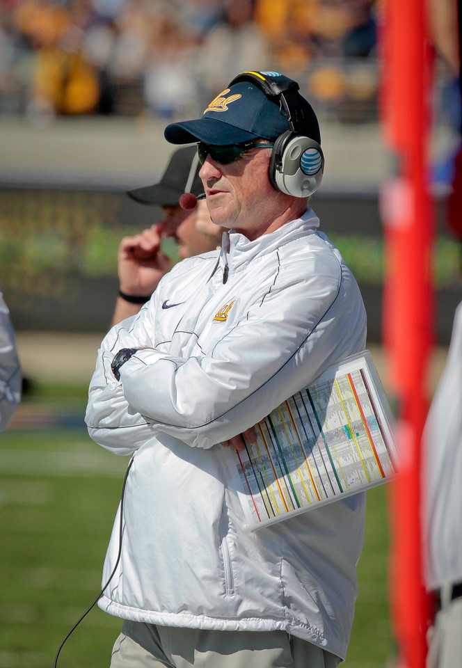 Cal's coach Jeff Tedford during the Stanford vs. Cal football game at Memorial Stadium in Berkeley, Calif.,  on Saturday, Oct.20th, 2012