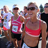 """Joanna Zeiger (745) and Colleen De Reuck, were among the professional athletes running the 10K of the Sunrise Stampede.<br /> For more photos and a video of the race, go to  <a href=""""http://www.dailycamera.com"""">http://www.dailycamera.com</a> or timescall.com.<br /> Cliff Grassmick / June 9, 2012"""