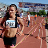"""Lanni Marchant, who ran for Canada in this year's Bolder Boulder, was the first female finisher of the  2012 Sunrise Stampede.<br /> For more photos and a video of the race, go to  <a href=""""http://www.dailycamera.com"""">http://www.dailycamera.com</a> or timescall.com.<br /> Cliff Grassmick / June 9, 2012"""