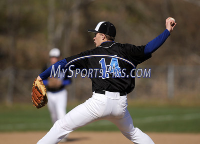 4/5/2012 Mike Orazzi | Staff St. Paul's Kyle Dube (14) during Thursday's baseball game with Sacred Heart at St. Paul.