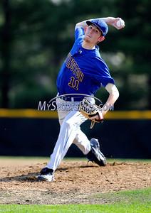 5/4/2012 Mike Orazzi | Staff Newington's Tyler Eastwood (11) at Newington High School on Friday.