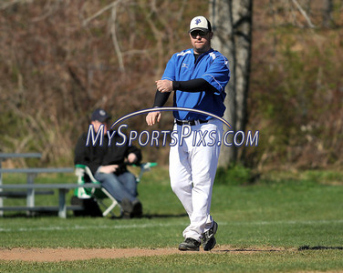 4/5/2012 Mike Orazzi | Staff St. Paul's Pat Holden during Thursday's baseball game with Sacred Heart at St. Paul.