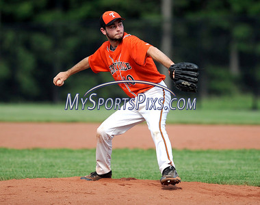 5/29/2012 Mike Orazzi | Staff Terryville's Kiel Pederson (10) on the mound during Tuesday's baseball game with Coginchaug at THS.