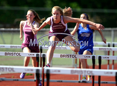 5/17/2012 Mike Orazzi | Staff Bristol Central's Lauren Bossi in the high jump during Thursday's track meet at BC.