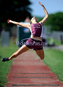 5/17/2012 Mike Orazzi | Staff Bristol Central's Paige McCarthy in the long jump at BC on Thursday.