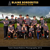 Blaine Borderites Baseball 2012 - Team  5x7