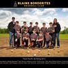 Blaine Borderites Baseball 2012 - Team  8x10