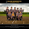 Blaine Borderites Baseball 2012 - Team  8x10