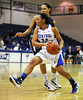 2/11/2012 Mike Orazzi | Staff<br /> CCSU's Danielle Davis (32) during Saturday's basketball game with in state rival Quinnipiac at Detrick Gym in New Britain.