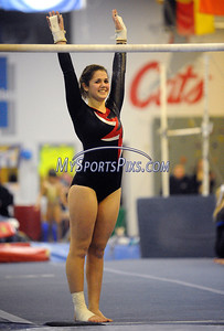 2/15/2012 Mike Orazzi | Staff Bristol Central's Kaley Beauchamp during Wednesday night's gymnastics meet at CATS in Cheshire.