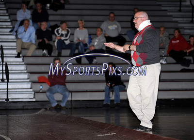 1/11/12 Mike Orazzi | Staff Berlin wrestling coach Jim Day during a match at BC on Wednesday night.