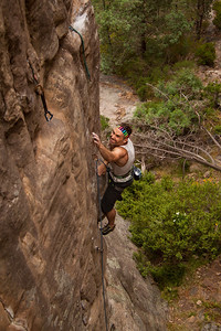 Champion try hard face going for the crux pocket