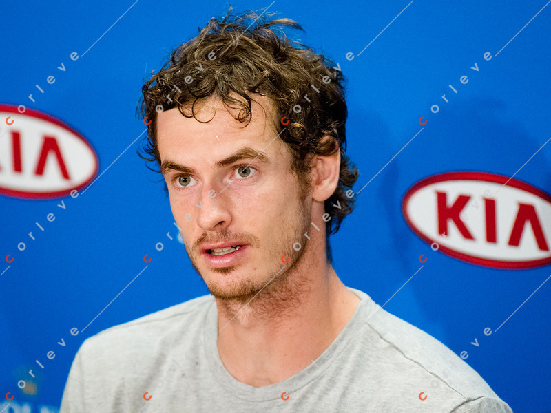 2012 Australian Open - Andy Murray post Semi Final Match Interview / corleve / Mark Peterson