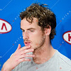 2012 Australian Open - Andy Murray post Semi Final Match Interview / corleve / Mark Peterson
