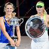 2012 Australian Open - Victoria Azarenka with Maria Sharapova / corleve / Mark Peterson