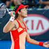 2012 Australian Open - DOMINGUEZ LINO, Lourdes (ESP) vs IVANOVIC, Ana (SRB) [21] / corleve / Mark Peterson