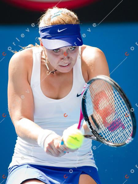 2012 Australian Open - LISICKI, Sabine (GER) [14]  vs KUZNETSOVA, Svetlana (RUS) [18] / corleve / Mark Peterson