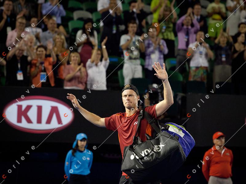 2012 Australian Open - DJOKOVIC, Novak (SRB) [1]  vs HEWITT, Lleyton (AUS) / corleve / Mark Peterson