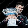 2012 Australian Open - Mens Final winner Novak Djokovic / corleve / Mark Peterson