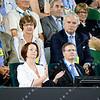 2012 Australian Open - Prime Minister Julia Gillard watching the Men's Semi Final / corleve / Mark Peterson