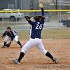 #25 Tiffany Morgan. Last pitch before the snow delay.