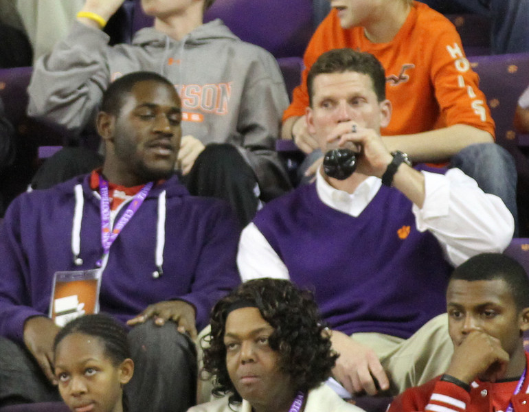 Coach Venables and LaChaston Smith