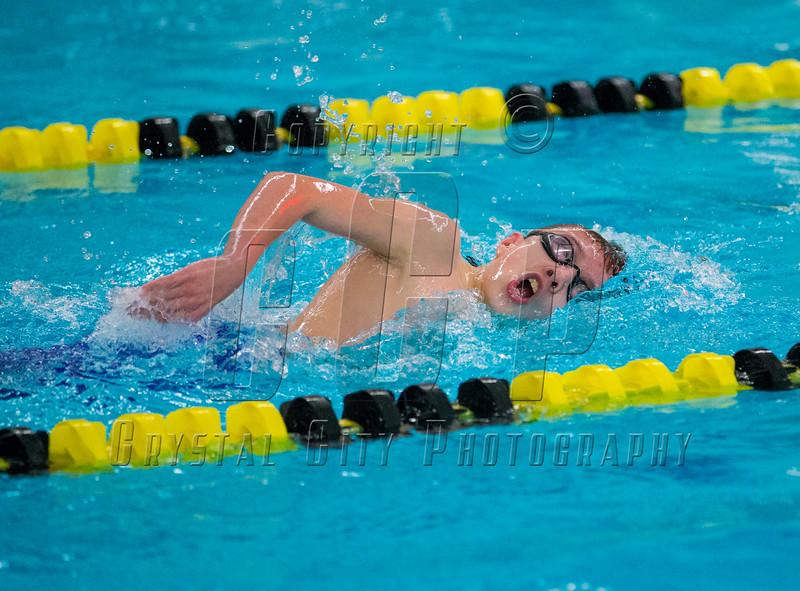 Boys High School Swimming. Maine-Endwell Spartans at Corning Hawks. December 19, 2013.