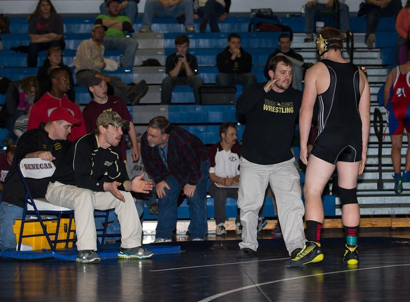 High School Varsity Wrestling, Mike Watson Tournament. January 11, 2014.