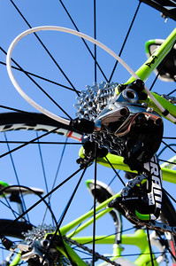 Gear cluster on Sagan backup bike.