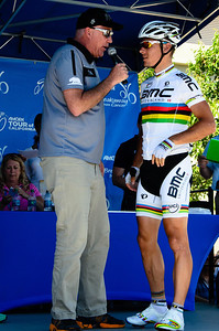 World Champion Philippe Gilbert interview at stage 2 sign in.