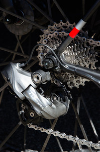 Looking at the Garmin bikes, one (Caleb Fairly) was fully equipped with Ultegra.  Upon asking, I was told that was just how the team chose to add back the weight they need to meet UCI minimum. If there ever was an endorsement for the quality of Ultegra this would have to be it.
