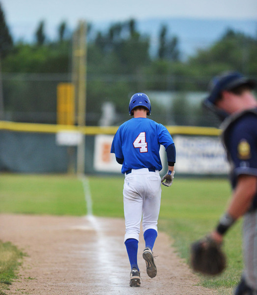 Trooper shortstop Connor McCafferty walks during a loss to Casper in July. (Brad Estes)
