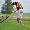 Big Horn Ram Jack Roberts chips onto the ninth green Thursday afternoon at Kendrick Golf Course.