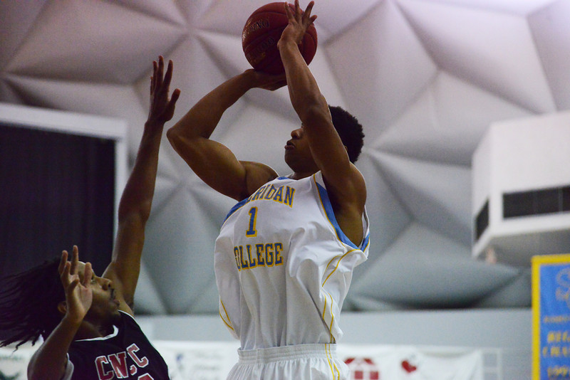 Kyi Thomas rises for a jumper during the first half of the Generals 107-73 win over Colorado Northwestern Wednesday night at the Bruce Hoffman Golden Dome. (The Sheridan Press/Brad Estes)