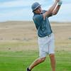Jack Mavrakis chips towards the hole Thursday at Kendrick Golf Course. (Justin Sheely/The Sheridan Press)