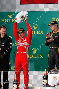2013 Australian F1 GP - Fernando Alonso on the podium