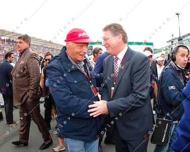 2013 Australian F1 GP - Niki Lauda and Denis Napthine