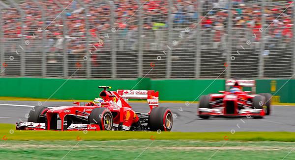 2013 Australian F1 GP - Fernando Alonso and Felipe Massa