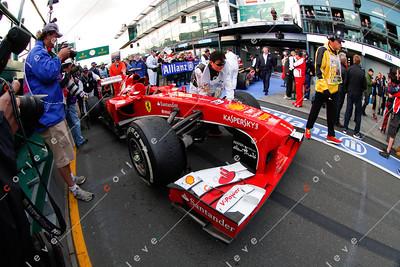 2013 Australian F1 GP - Fernando Alonso's Ferrari post race
