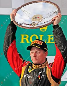 2013 Australian F1 GP - Kimi Raikkonen on the podium