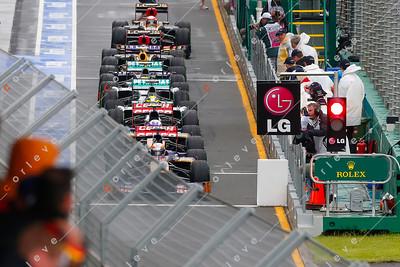 2013 Australian F1 GP - Q2 session