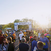 Record-Eagle/Keith King<br /> The sun rises as runners prepare Saturday, May 25, 2013 for the start of the 31st annual Bayshore running races.
