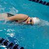 """Fairview High School's Abigail Houck swims during the Boulder County Invitational swim meet at the Veterans Memorial Aquatic Center in Thornton. For more photos of the meet go to  <a href=""""http://www.dailycamera.com"""">http://www.dailycamera.com</a><br /> Jeremy Papasso/ Camera"""
