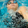 "Boulder High School's Haley Rowley emerges from underwater while swimming in the 100-yard backstroke during the Boulder County Invitational swim meet at the Veterans Memorial Aquatic Center in Thornton. Rowley took 1st place. For more photos of the meet go to  <a href=""http://www.dailycamera.com"">http://www.dailycamera.com</a><br /> Jeremy Papasso/ Camera"