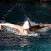 "Fairview High School's Julia Box swims the 100-yard butterfly during the Boulder County Invitational swim meet at the Veterans Memorial Aquatic Center in Thornton. For more photos of the meet go to  <a href=""http://www.dailycamera.com"">http://www.dailycamera.com</a><br /> Jeremy Papasso/ Camera"
