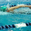 """Niwot High School's Hannah Driscoll swims in the 50-yard freestyle event during the Boulder County Invitational swim meet at the Veterans Memorial Aquatic Center in Thornton. For more photos of the meet go to  <a href=""""http://www.dailycamera.com"""">http://www.dailycamera.com</a><br /> Jeremy Papasso/ Camera"""