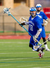 Boys High School Varsity Lacrosse.  Horseheads Blue Raiders at Corning Hawks.  March 27, 2013.