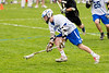 Boys High School Varsity Lacrosse.  Corning Hawks at Horseheads Blue Raiders.  April 30, 2013.